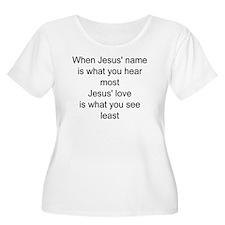 Jesus name Plus Size T-Shirt