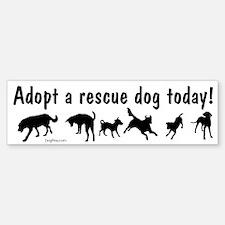 Adopt a Rescue Dog Today Bumper Bumper Sticker