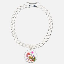 Abstract Flowers Bracelet