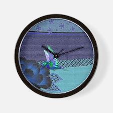 Hummingbird Blues Wall Clock