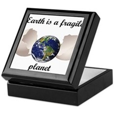 Earth is a fragile planet Keepsake Box