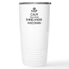 Keep calm you live in R Travel Coffee Mug