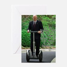Dick Cheney Segway Birthday C Greeting Card