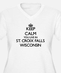 Keep calm you live in St. Croix Plus Size T-Shirt