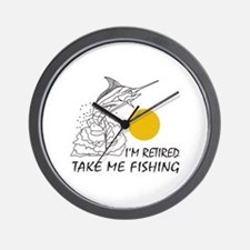 TAKE ME FISHING Wall Clock
