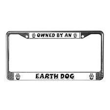Earth Dog License Plate Frame