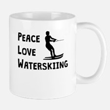 Peace Love Waterskiing Mugs