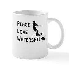Peace Love Waterskiing Mugs