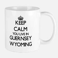 Keep calm you live in Guernsey Wyoming Mugs
