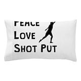 Peace love shot put Pillow Cases