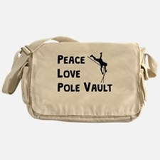 Peace Love Pole Vault Messenger Bag