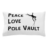 Peace love pole vault Pillow Cases