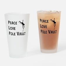 Peace Love Pole Vault Drinking Glass