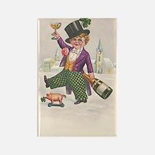 Vintage St Patricks Day Champagne Boy Magnets