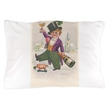 Vintage St Patricks Day Champagne Boy Pillow Case