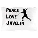 Peace love javelin Pillow Cases
