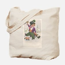Vintage St Patricks Day Champagne Boy Tote Bag