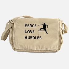 Peace Love Hurdles Messenger Bag
