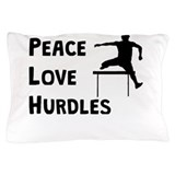 Peace love hurdling Pillow Cases