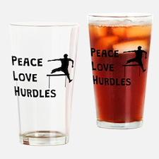 Peace Love Hurdles Drinking Glass