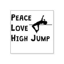 Peace Love High Jump Sticker
