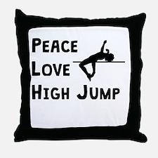 Peace Love High Jump Throw Pillow
