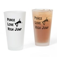 Peace Love High Jump Drinking Glass
