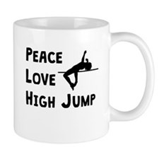 Peace Love High Jump Mugs