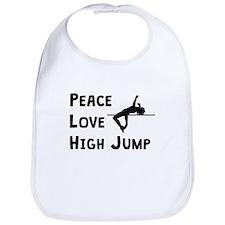 Peace Love High Jump Bib