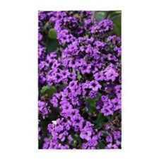 Purple Flowers Area Rug