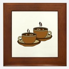 TWO COFFEE CUPS Framed Tile