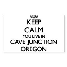 Keep calm you live in Cave Junction Oregon Decal