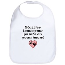 Staffies Leave Paw Prints On Your Heart Bib