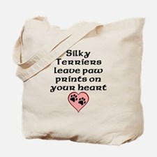 Silky Terriers Leave Paw Prints On Your Heart Tote