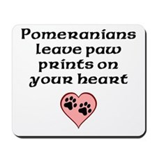 Pomeranians Leave Paw Prints On Your Heart Mousepa