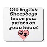 Old english sheepdog Mouse Pads