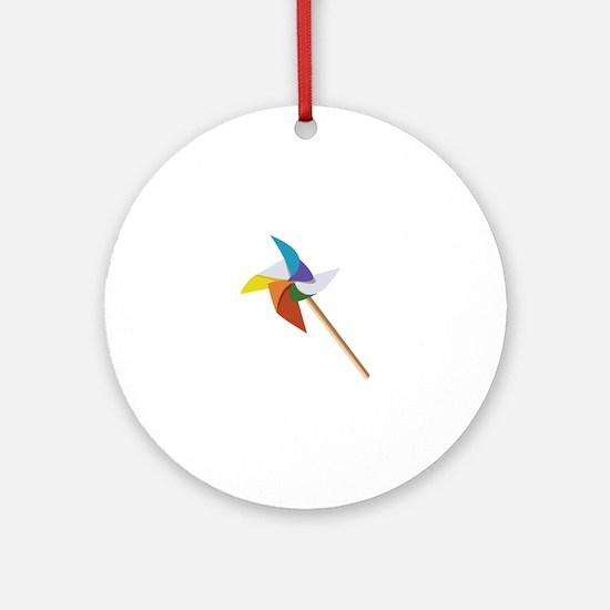 Colorful Pinwheel Ornament (Round)