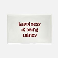 happiness is being Lainey Rectangle Magnet