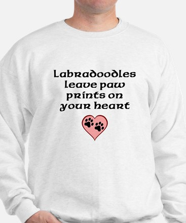 Labradoodles Leave Paw Prints On Your Heart Sweats