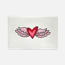 HEART WITH WINGS Magnets