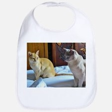 Red and Lilac Burmese Cats Bib