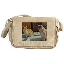 Red and Lilac Burmese Cats Messenger Bag