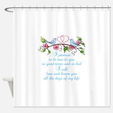 WEDDING VOWS Shower Curtain