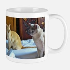 Red and Lilac Burmese Cats Mugs