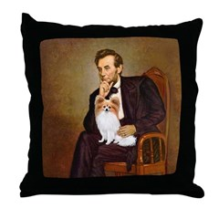 Lincoln's Papillon Throw Pillow