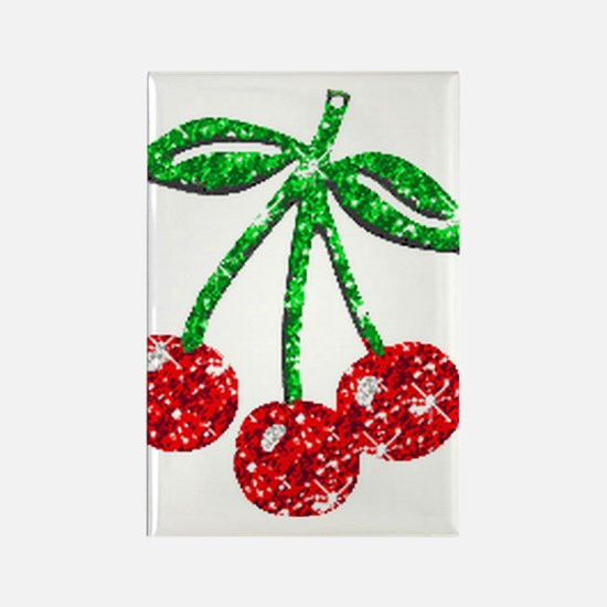Sparkling Cherries Rectangle Magnet