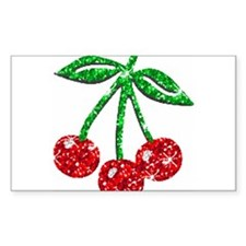 Sparkling Cherries Rectangle Decal