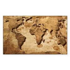 World Map Art Decal