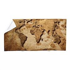 World Map Art Beach Towel