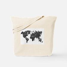 World Map Art Tote Bag